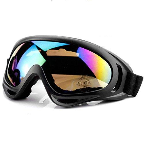 山の奥 スキーゴーグル レンズ着脱可 UV400 紫外線カット 曇り止め 防風防塵 ヘルメット対応 男女兼用 スキー 冬山登山などに