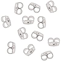 Beadaholique Sterling Silver Earring Backs (Earnuts) Fine 4mm (12) Earring Part