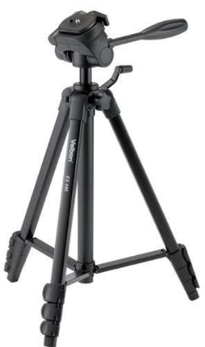 Velbon 三脚 レバー式 EX-440 4段 小型 3Way雲台クイックシュー付き アルミ製 301482