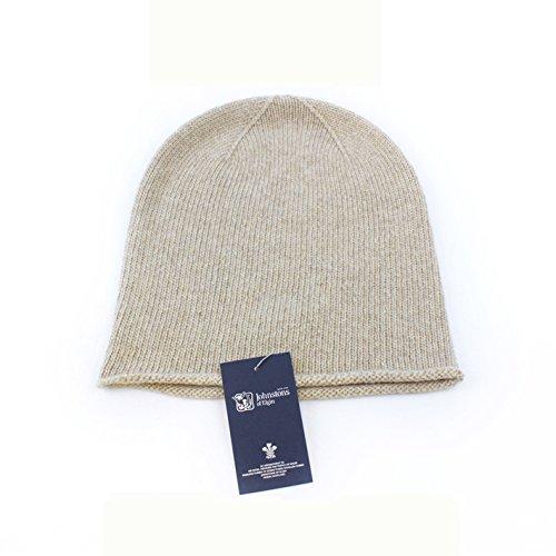ジョンストンズ ウール カシミア・ニット帽