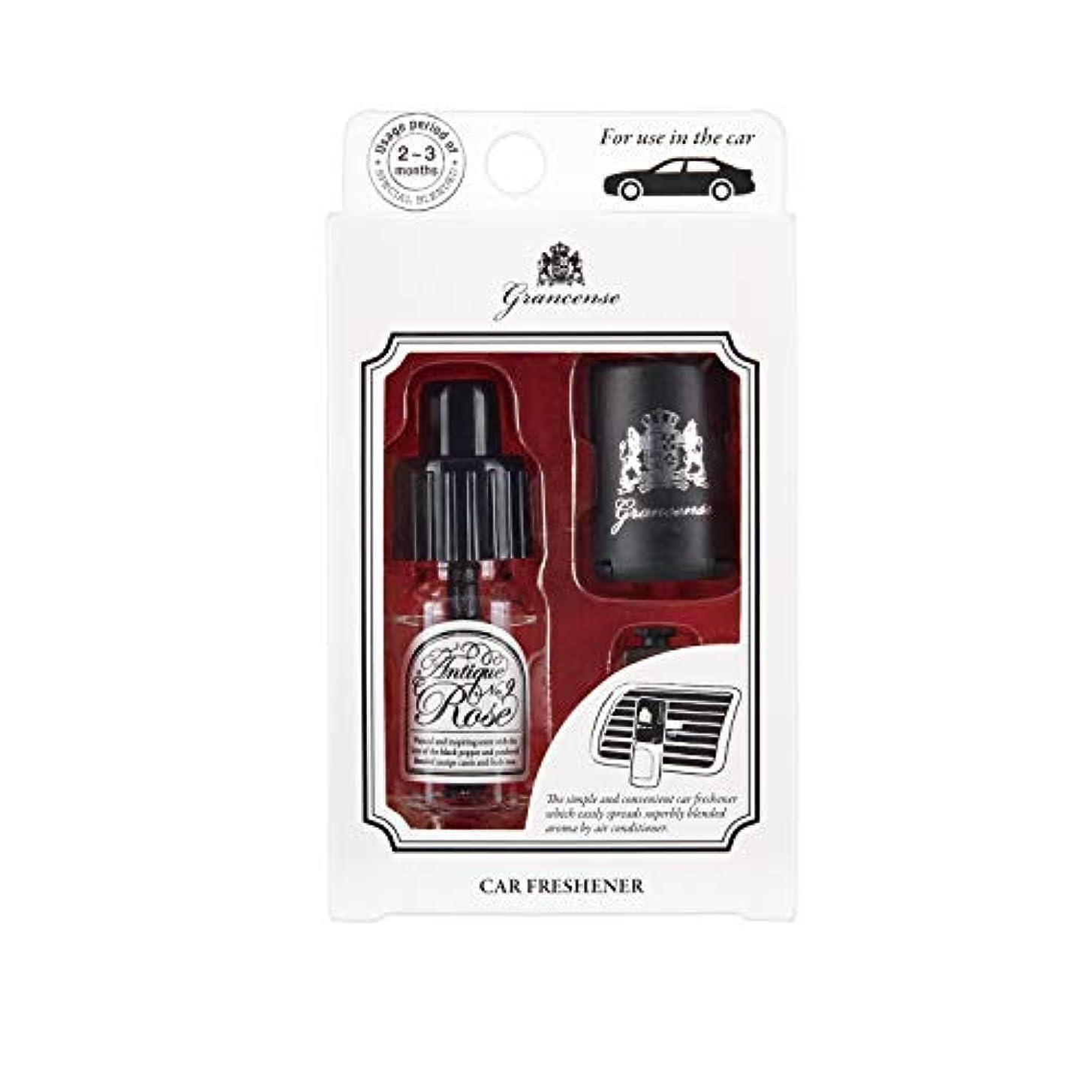 管理者航海の溶けるグランセンス カーフレッシュナー アンティークローズ 10mL (車用芳香剤 カーディフューザー 2-3ヶ月 日本製)