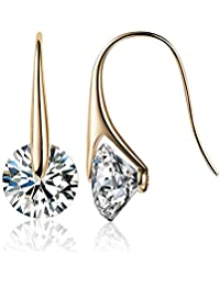 MESTIGE Eclipse Drop Dangle Earrings in Gold with Crystals from Swarovski®, Gifts