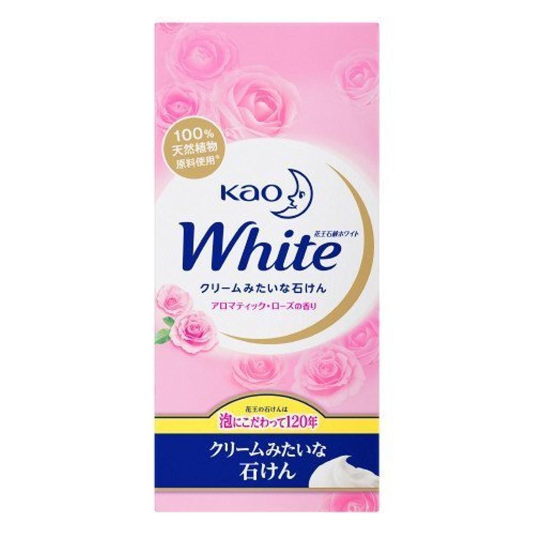 八百屋さん溶岩仮説【花王】花王ホワイト アロマティックローズの香りレギュラーサイズ (85g×6個) ×10個セット