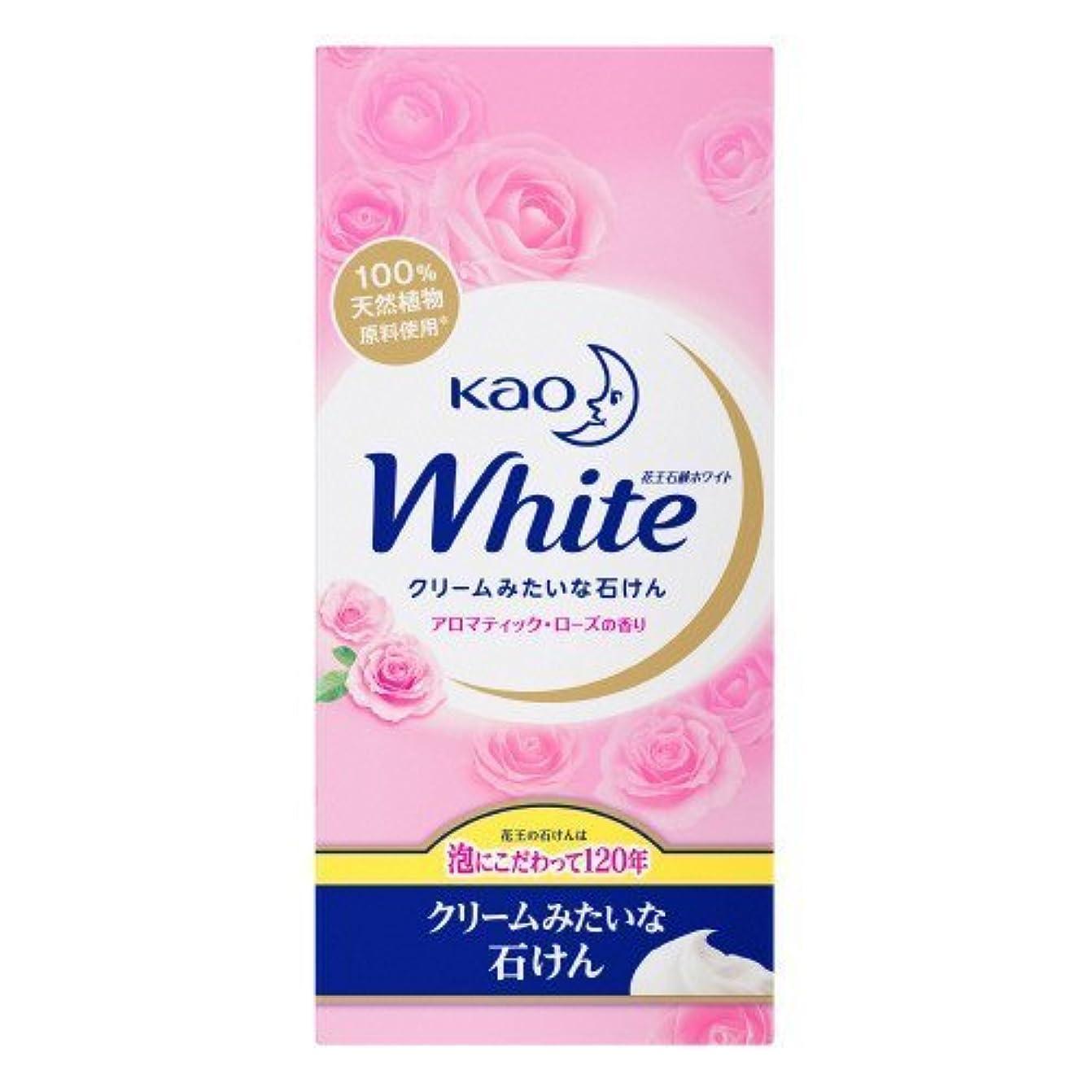 文化に渡ってディプロマ【花王】花王ホワイト アロマティックローズの香りレギュラーサイズ (85g×6個) ×10個セット