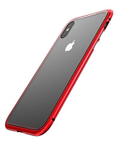 bd272549c0 アイフォンXs Max ケース マグネット式 uovon 高品質 金属バンパー iPhone Xs Max メタルカバー 人気合金 金属枠 衝撃防止  擦傷防止 背面強化ガラス iPhone Xs Max ...