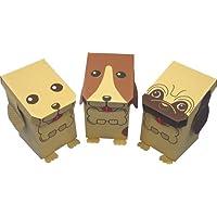 森井紙器 段ボール工作シリーズ 動物型おもちゃボックス はこいぬ 3匹セット