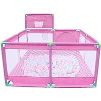 ベビーサークル 赤ちゃんの遊び場の赤ちゃんクロール幼児のフェンス、子供のアクティビティセンターゲームフェンスポータブルプレイヤード屋内遊び場の安全フェンス (色 : PINK)