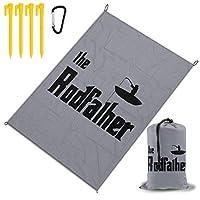 ロッドファーザー レジャー旅行シートピクニックマット防水145×200センチ折りたたみキャンプマット毛布オーニングテントライトと収納が簡単ポータブル巾着