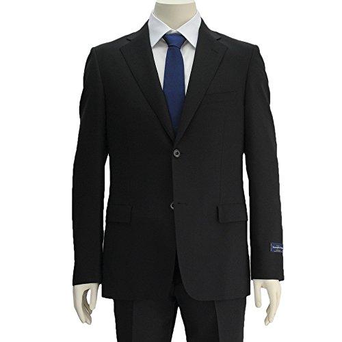 (エルメネジルドゼニア生地使用) Ermenegildo ZEGNA TROPICAL トロピカル メンズ シングルスーツ ブラック 正規取扱店