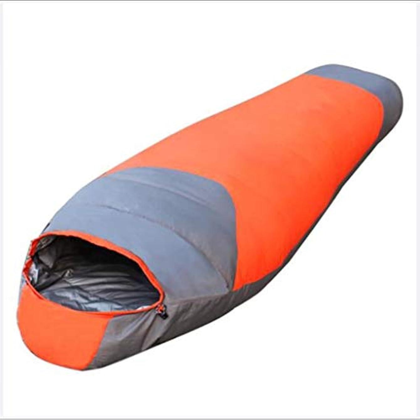 ネスト温かい証明2200gダウン寝袋アウトドアキャンプの寝袋(赤、緑、青)