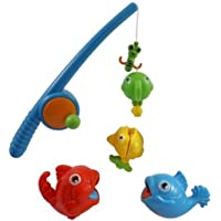 Rod and Reel Fishing Game Bath Toy Set for Kids with Fish and Fishing Pole [並行輸入品]