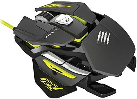 Mad Catz R.A.T.PRO Sゲーミングマウス PIXART PMW 3310 オプティカル 3500 dpi オンボード メモリ 搭載 超軽量 77g MC-RPS-MB
