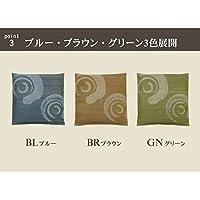 純国産 捺染 い草座布団 『鳴門 2枚組』 ブラウン 55×55cm×2P