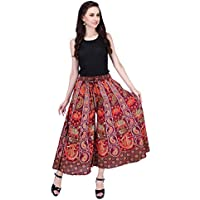 AYAT Cotton Women's Smocked Waist Harem Hippie Trousers Indian Boho Bohemian Pants Good for Party Holiday Yoga
