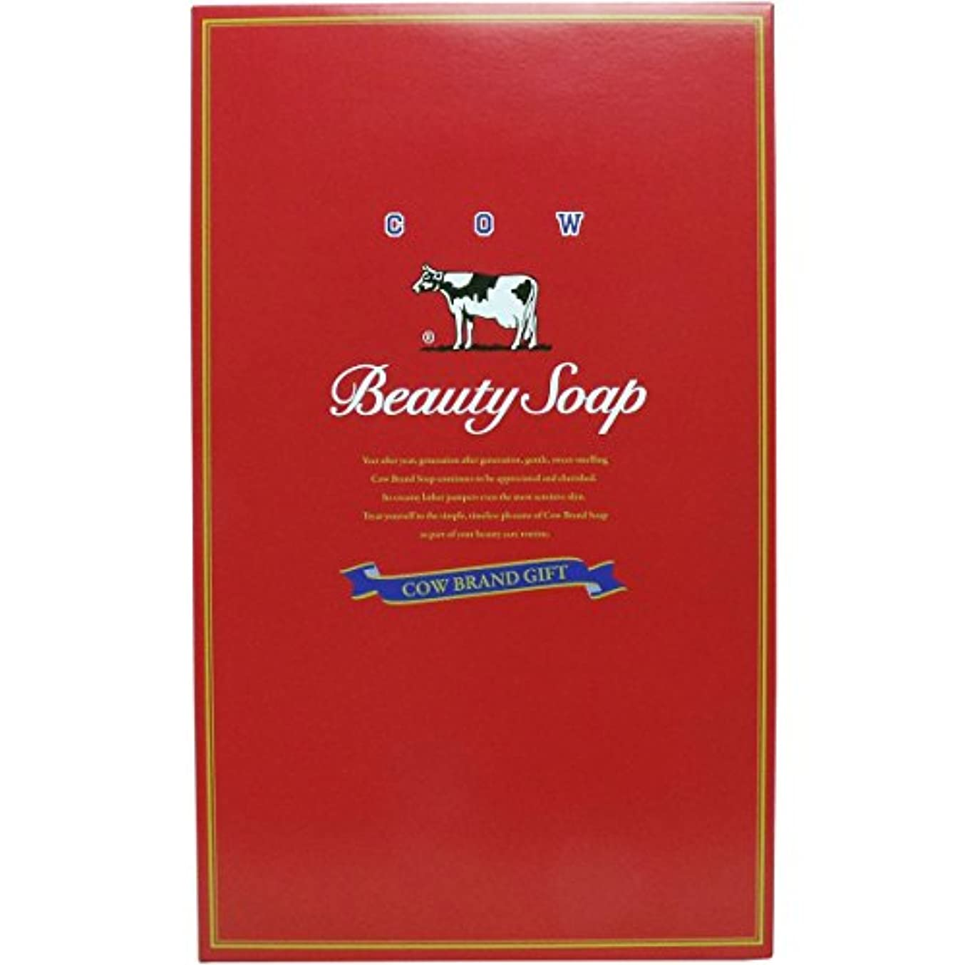 吹雪上にはしご牛乳石鹸共進社 カウブランド石鹸 赤箱 100g×10個×3箱