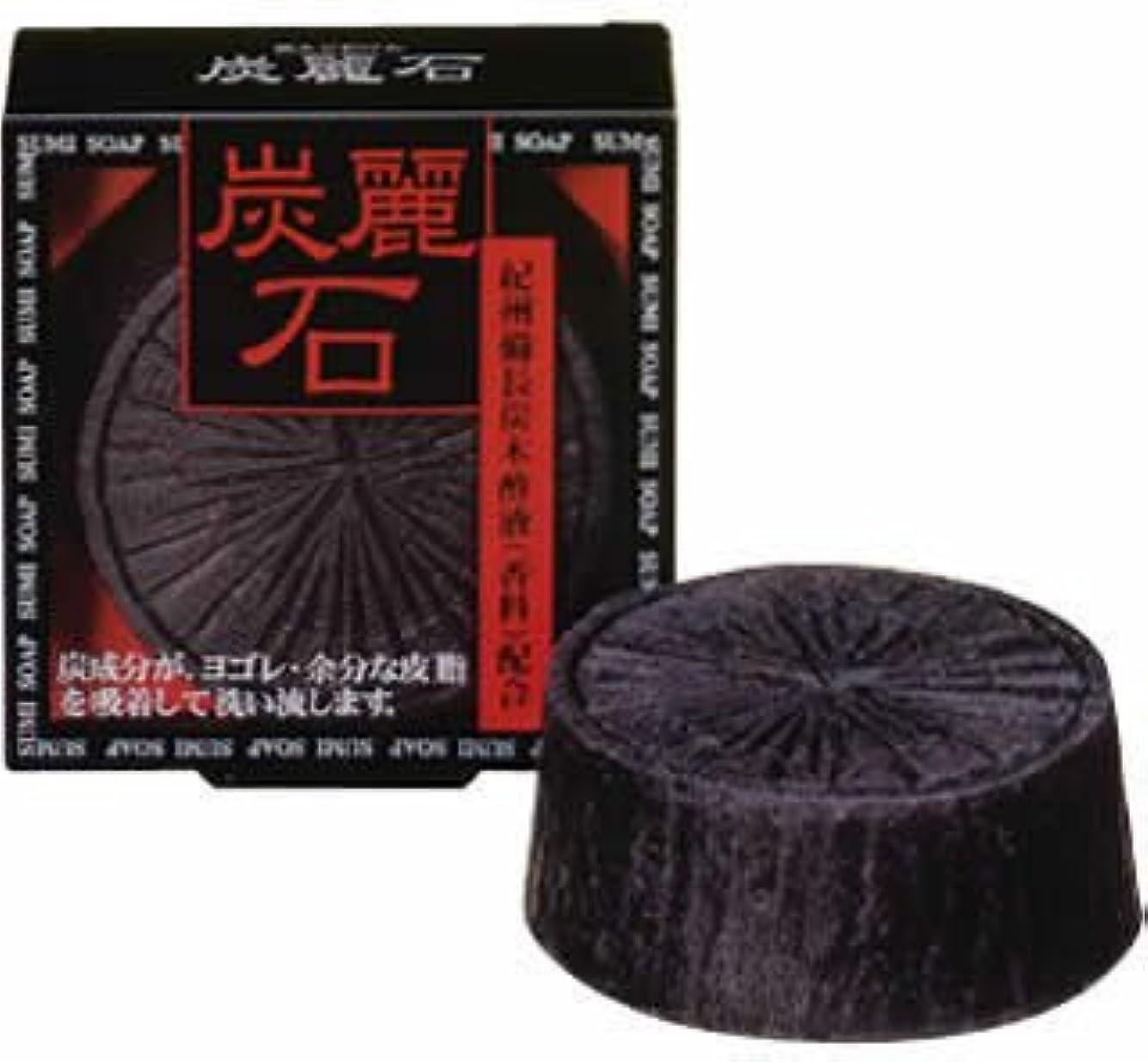 活力該当するスナップ炭麗石 炭入り洗顔石鹸 128g