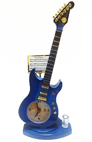 おしゃれ インテリア 楽器 型 デザイン 置き 時計 ギター ...