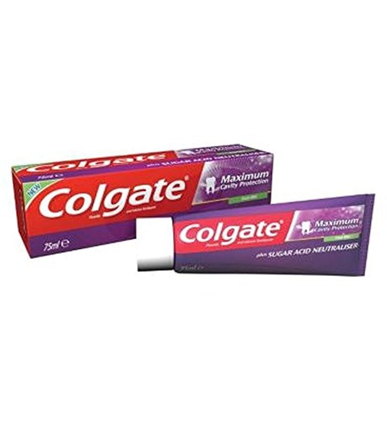 不毛の内側たくさんコルゲート最大空洞の保護に加えて、糖酸中和剤の歯磨き粉75ミリリットル (Colgate) (x2) - Colgate Maximum Cavity Protection plus Sugar Acid Neutraliser...