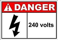 240ボルトの危険 メタルポスタレトロなポスタ安全標識壁パネル ティンサイン注意看板壁掛けプレート警告サイン絵図ショップ食料品ショッピングモールパーキングバークラブカフェレストラントイレ公共の場ギフト