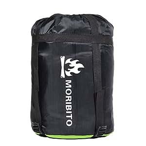 MORIBITO(モリビト) 圧縮バッグ コンパクト コンプレッションバッグ 圧縮バッグ 寝袋収納袋 アウトドア (aグリーン)