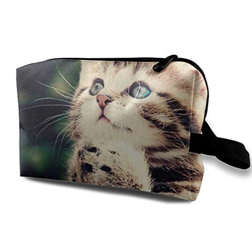 散歩幅遺伝子Cute Cat Is Praying Unique 収納ポーチ 化粧ポーチ 大容量 軽量 耐久性 ハンドル付持ち運び便利。入れ 自宅?出張?旅行?アウトドア撮影などに対応。メンズ レディース トラベルグッズ