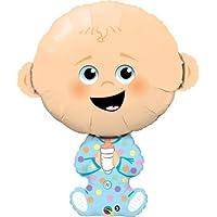 Baby Boy Shaped Qualatex 14インチAir Fill Mini箔バルーンX 2