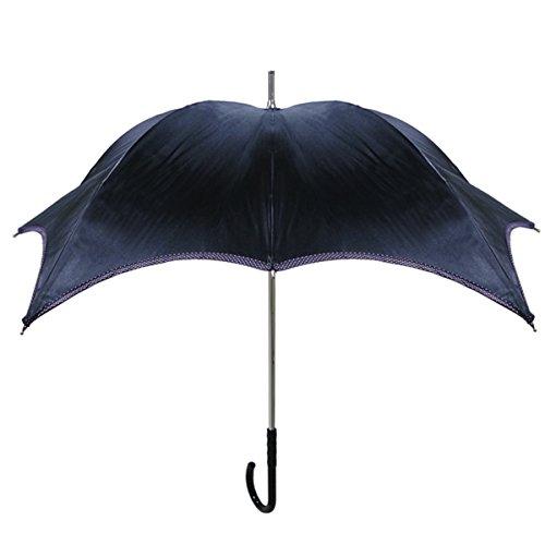【正規輸入品】 ディチェザレ デザイン パンプキン パラソル エッジ― ドット 全3色 長傘 手開き 日傘/晴雨兼用 ブラック 10本骨 40-50cm UVカット グラスファイバー骨