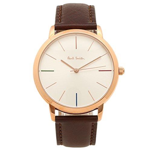 ポールスミス 時計 PAUL SMITH P10053 MA エムエー メンズ腕時計 ウォッチ ホワイト/ローズゴールド/ブラウン [並行輸入品]