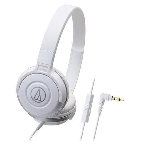 Audio-Technica オーディオテクニカ スマートフォン用ポータブルヘッドホン ATH-S100iS WH