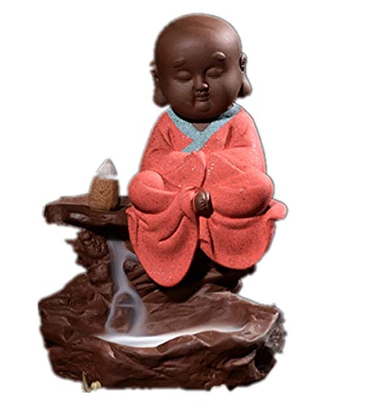ポルティコ植物の彫刻家XPPXPP Backflow Incense Burner, Household Ceramic Returning Cone-shaped Candlestick Burner