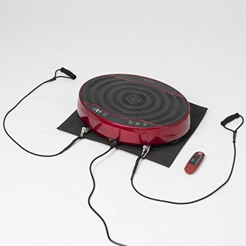 ALINCO(アルインコ) 2D振動マシン バランスウェーブミニ FAV4117R 体幹・筋力トレーニング 振動速度16段階調節 エクササイズバンド・保護マット付き