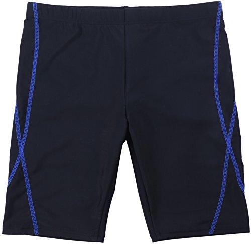 【Asbrio】水着競泳スクールミドルスパッツUPF50+撥水加工80〜170cm(ブルー,100)