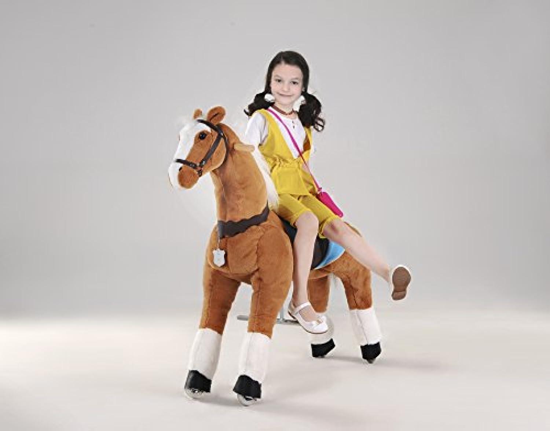 Ufree horse、動く馬、乗用玩具、大きいサイズ木馬、木馬おもちゃ、走れ、ポニー44 、子供へのプレゼント (白い縦髪としっぽ)