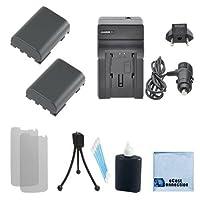 2NB - 2lh電池+充電器for Canon mvx20i、mvx25i、mvx30i、mvx35i、mvx40i、mvx45i、mvx200、mvx200i、mvx250i、mvx300i、mvx330i、mvx350i、r10, r11, r100and More。。。+ Complete Starterキット