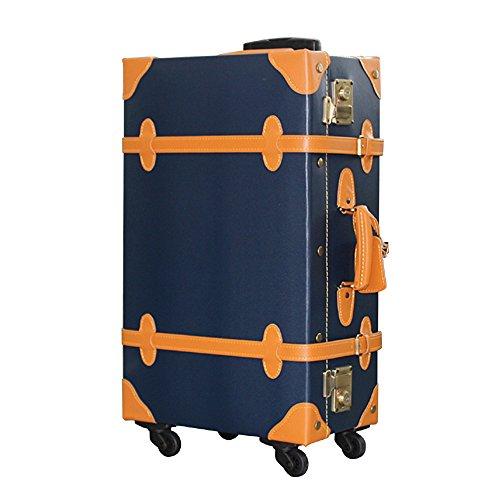 (グラディス・トラベル)GladysTravel クラシックトランクケース PVC製 4輪キャスター 8480-58 Sサイズ ネイビー