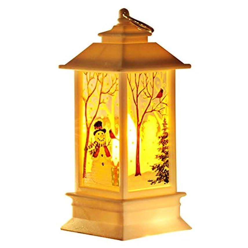 振る舞う目指す常習的ZaRoing ホームバー用の小さなクリスマスランタンランプデスクライトフェスティバルテーブル装飾