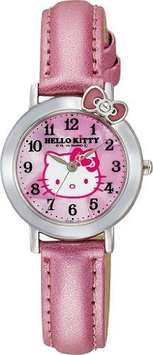 Q&Q 腕時計 Hello Kitty (ハローキティ) アナログ表示 ピンク VW23-130 レディース シチズン