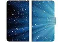 Docomo Disney ディズニー Mobile on Docomo DM-01J 専用 手帳 型 デザイン ケース カバー ベルト カメラ穴 あり ベージュ 完全受注生産 星 宇宙 12 NM2BG-M-DMO1J-STGX12