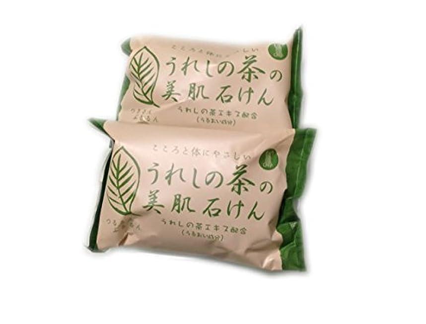 白いで出来ている風刺日本三大美肌の湯嬉野温泉 うれしの茶の美肌石けん2個セット