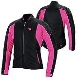 RSタイチ(アールエスタイチ)バイクジャケット ブラック/ピンク (サイズ:WL) クルーメッシュジャケット RSJ317