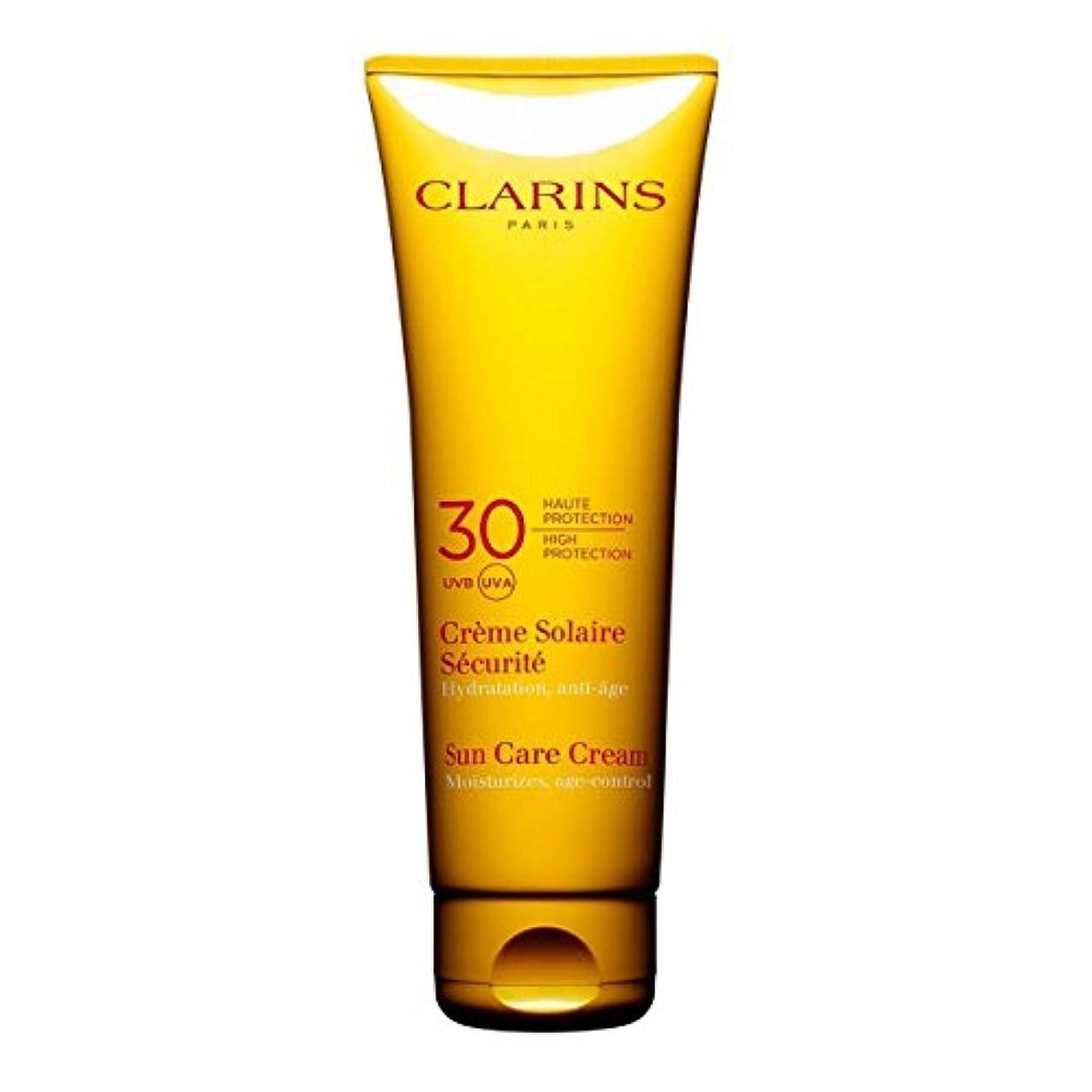 小麦渇き今までClarins Sun Cream High Protection Uvb-Uva 30 125ml [並行輸入品]