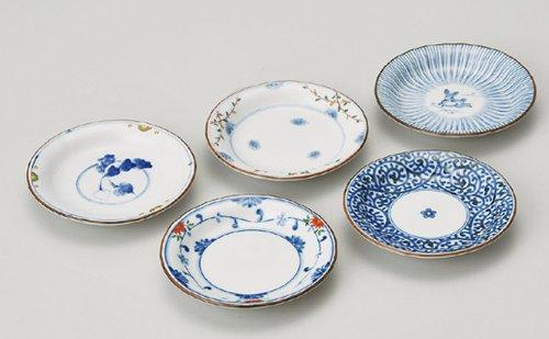 西海陶器 染錦絵変り 小皿揃 31987