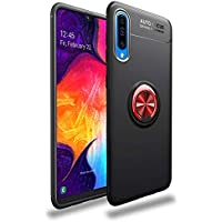 SGKITM Case Compatible Samsung Galaxy A70 Armor Silicone TPU Protection Back A50 Cover Invisible Ring Magnetic Car Phone Mount Slim Fit Shockproof Anti-Scratch Shell for Galaxy A40