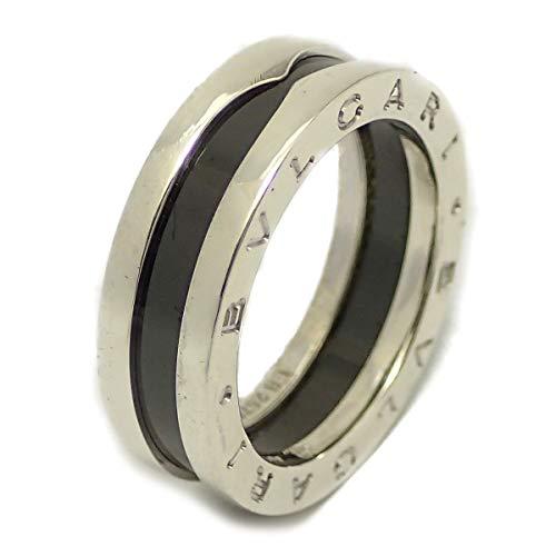 [ブルガリ] BVLGARI B-zero1 ビーゼロワン セーブザチルドレン リング 指輪 XSサイズ シルバー Ag925 セラミック 黒 ブラック 15号 #55 AN855770