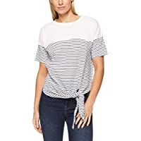 French Connection Women's Stripe TIE Front TEE, Summer