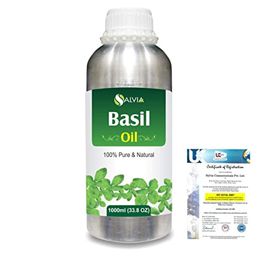 煙突隔離する行商Basil (Ocimum basilicium) 100% Natural Pure Essential Oil 1000ml/33.8fl.oz.