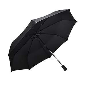 microrange 折り畳み傘 自動開閉 ワンタッチ 撥水性 晴雨兼用 頑丈な8骨傘 直径110cm ブラック