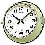 SEIKO CLOCK (セイコークロック) 掛け時計 アナログ 防塵型 オフィスタイプ 金属枠 薄緑 KS474M