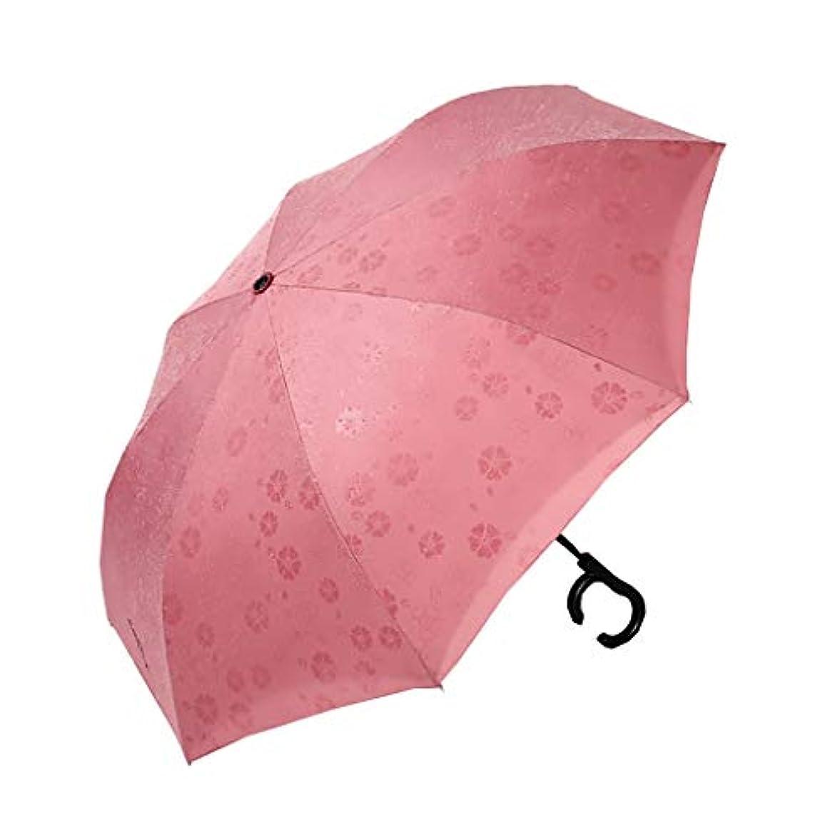 どのくらいの頻度でコックアルネ傘24骨傘クリエイティブロングハンドル傘大型ダブルハンズフリーカー逆傘反強い嵐水ブルーム (色 : B)