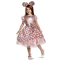 Rose Gold Minnie Deluxe Child Girl Costume